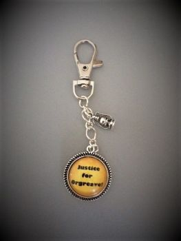 Justice for Orgreave! Keyring / Keychain - Handmade, Unique (FREE or LOW COST shipping)