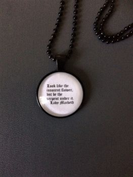 Lady Macbeth Quote Necklace