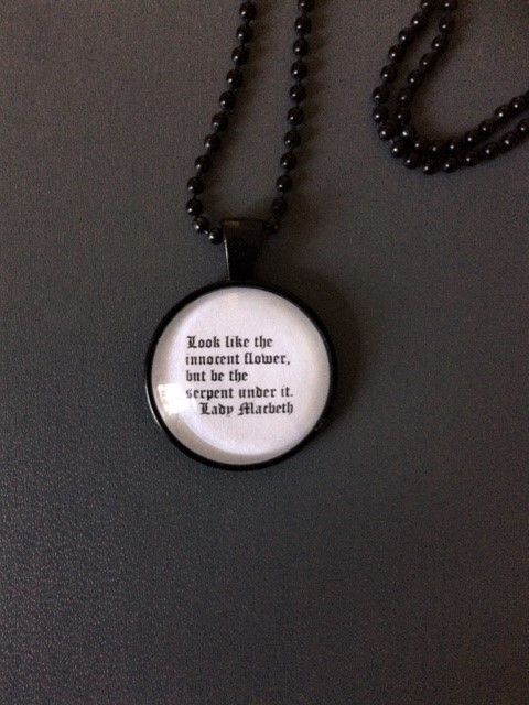 Lady Macbeth Quote Necklace