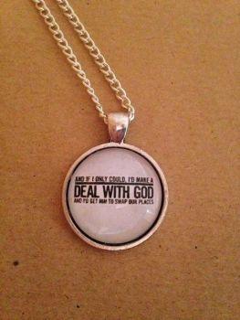 Running up that Hill - Kate Bush Placebo Lyrics Necklace - Handmade, Unique