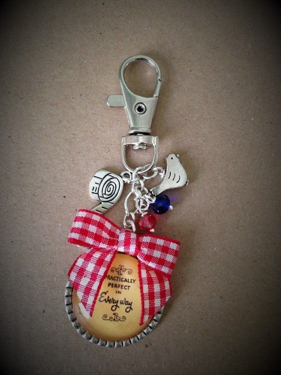 Mary Poppins Practically Perfect Keyring / Keychain / Bagcharm
