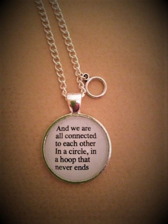 Pocahontas Quote Necklace