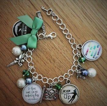 Peter Pan Quote Bracelet