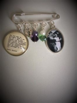 Annie Kenney Suffragette Quotation Pin Brooch