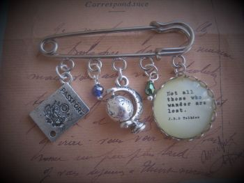 """Tolkein Pin """"Not all those who wander are lost"""""""