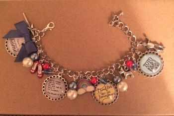 Wizard of Oz Quote Charm Bracelet