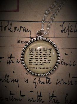Sylvia Pankhurst Quotation Necklace