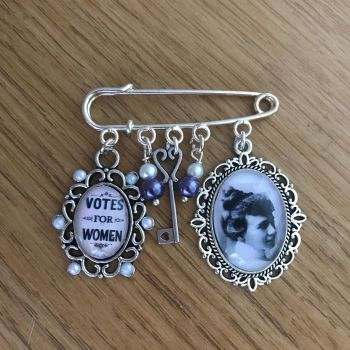 Emily Davison / Deeds Not Words Pin Brooch