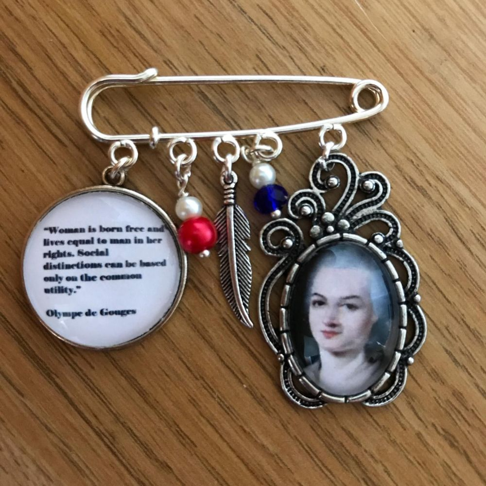 Olympe de Gouges - Feminist - Brooch/Bag Pin
