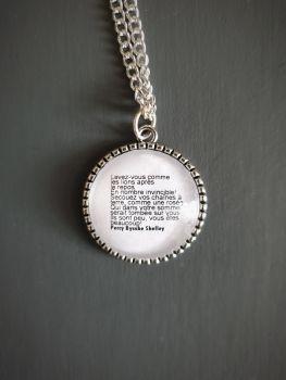Levez-Vous Comme Les Lions - Shelley Quote Necklace