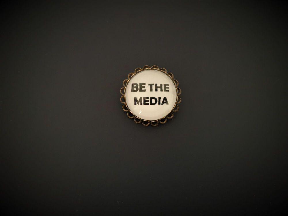 Be The Media Pin Brooch