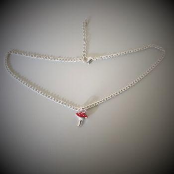 Mushroom Choker Necklace