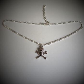 Skull & Crossbones Choker Necklace