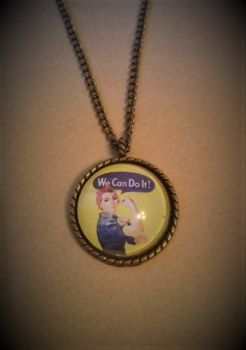 We Can do It - Rosie the Riveter Necklace