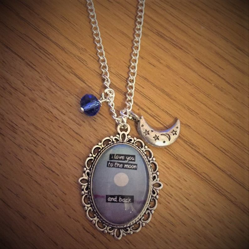 I Love You to the Moon & Back quote necklace