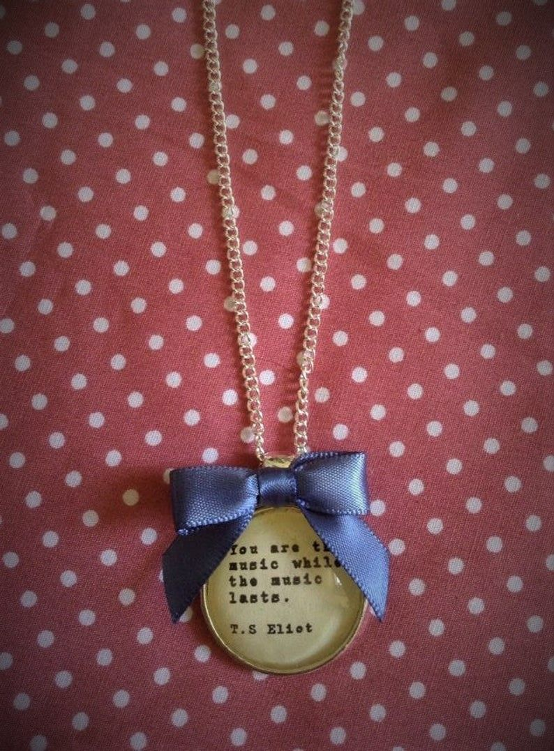 T S Eliot Quotation Necklace