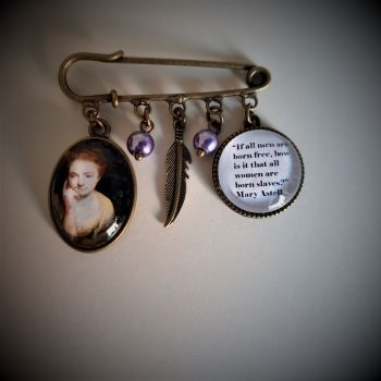 Mary Astell Quotation Pin Brooch
