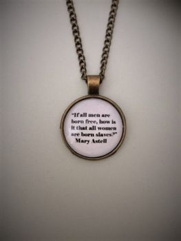 "Mary Astell ""1st English Feminist"" Quotation Necklace"