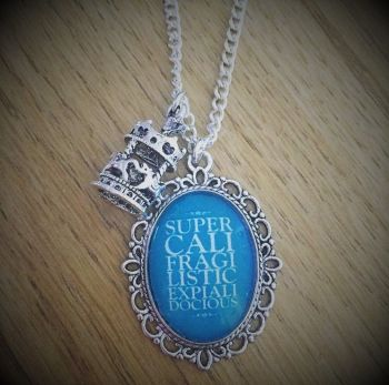 Mary Poppins Quotation Necklace