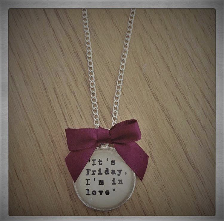 It's Friday I'm in Love Necklace
