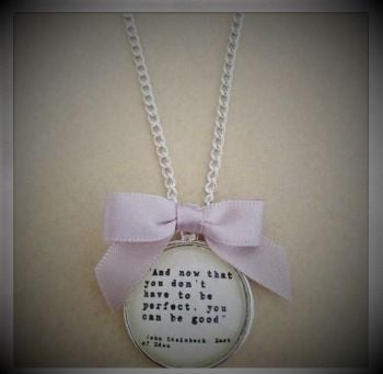 John Steinbeck Quotation Necklace