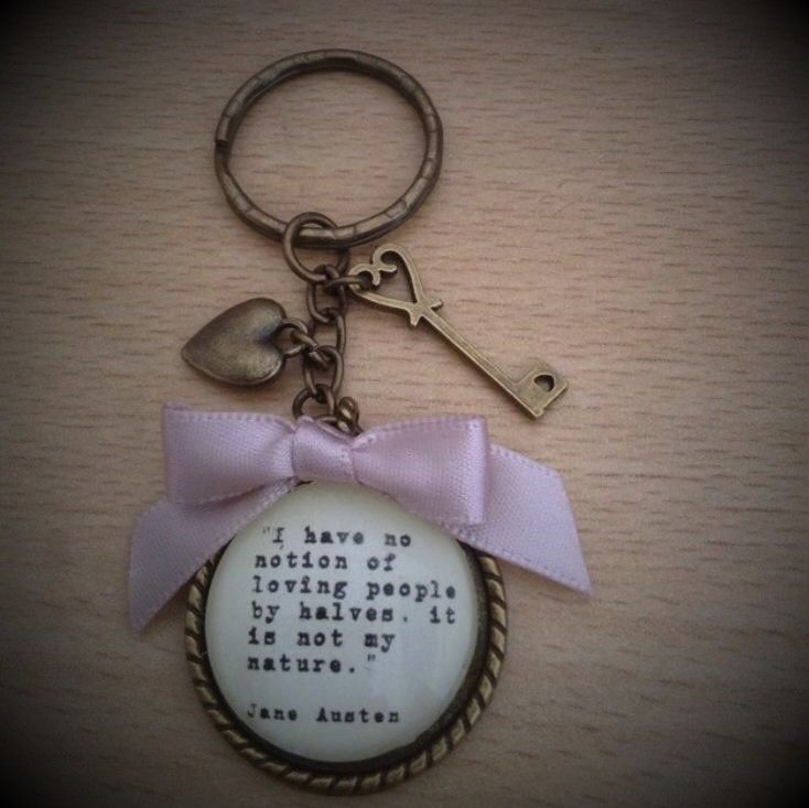 Jane Austen Quotation Keyring / Keychain