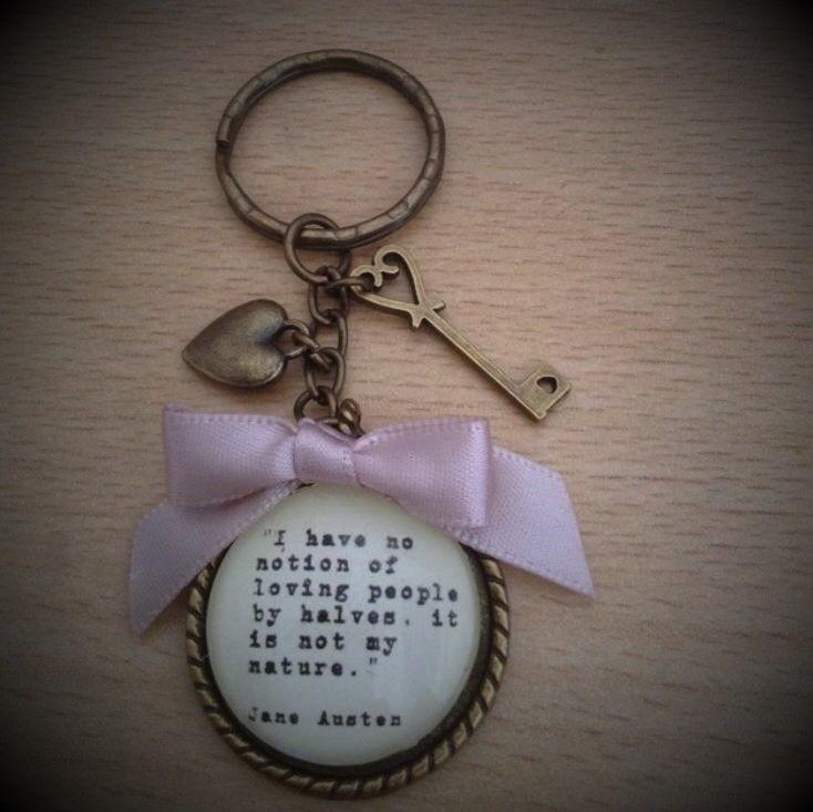 Jane Austen Quotation Keyring / Keychain