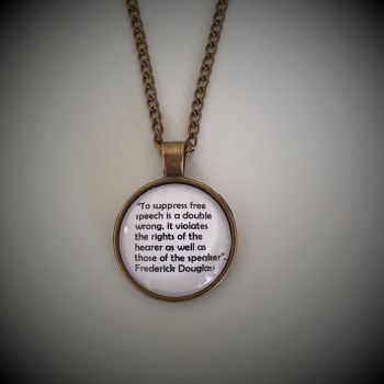 """Freedom of Speech"" Quotation Necklace - Frederick Douglass"