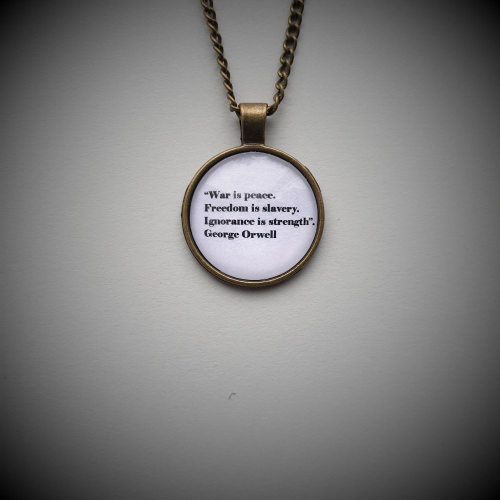 George Orwell War is Peace Necklace