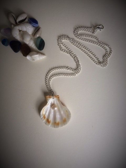 Cultured Pearl & Shell Necklace