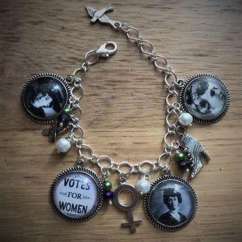 Emily Wilding Davison Charm Bracelet