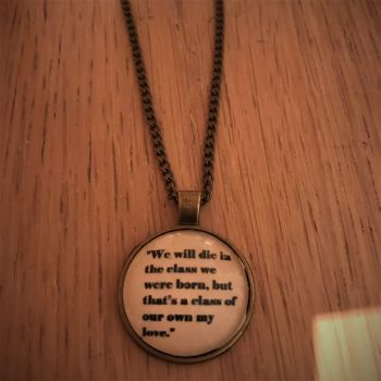 Time for Heroes Lyric necklace