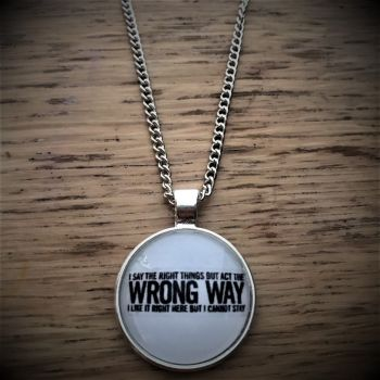 Hard to Explain Lyric Necklace