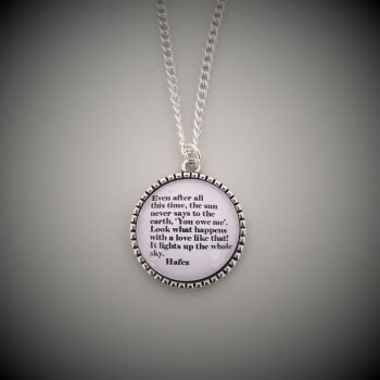 Hafez of Iran Quotation Necklace