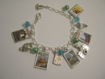 Personalied Travel Bracelet  in silver