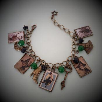 Vintage Witch Charm Bracelet