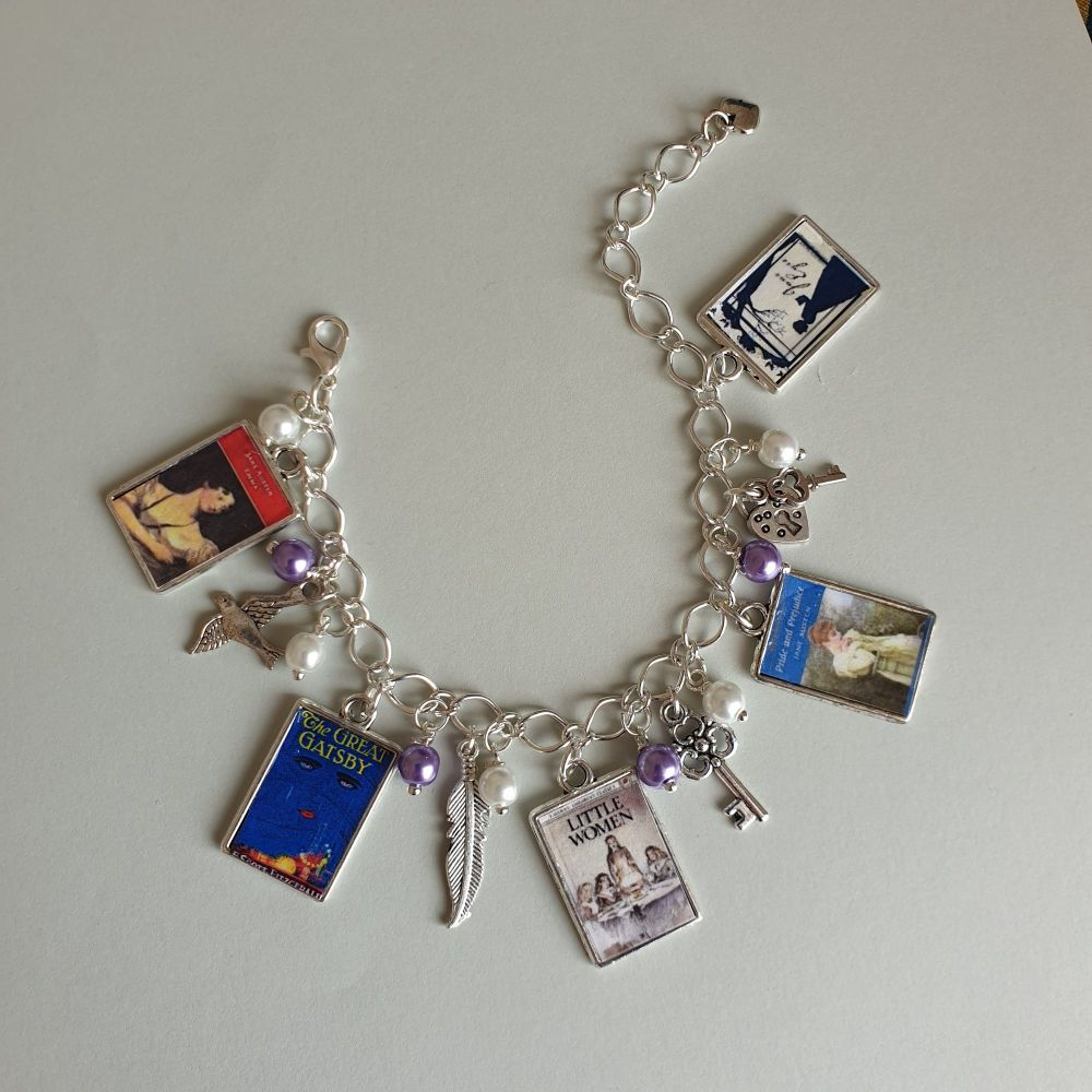 PERSONALISED Literary Charm Bracelet - Choose Your Books