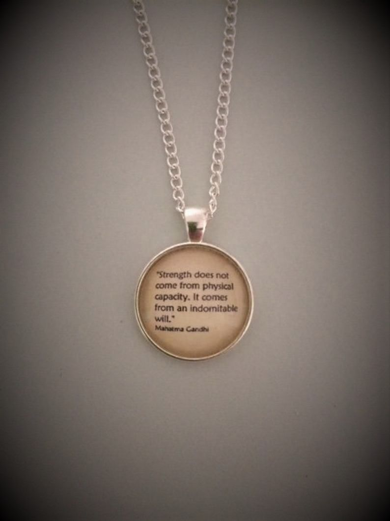 Mahatma Gandhi Quotation Necklace