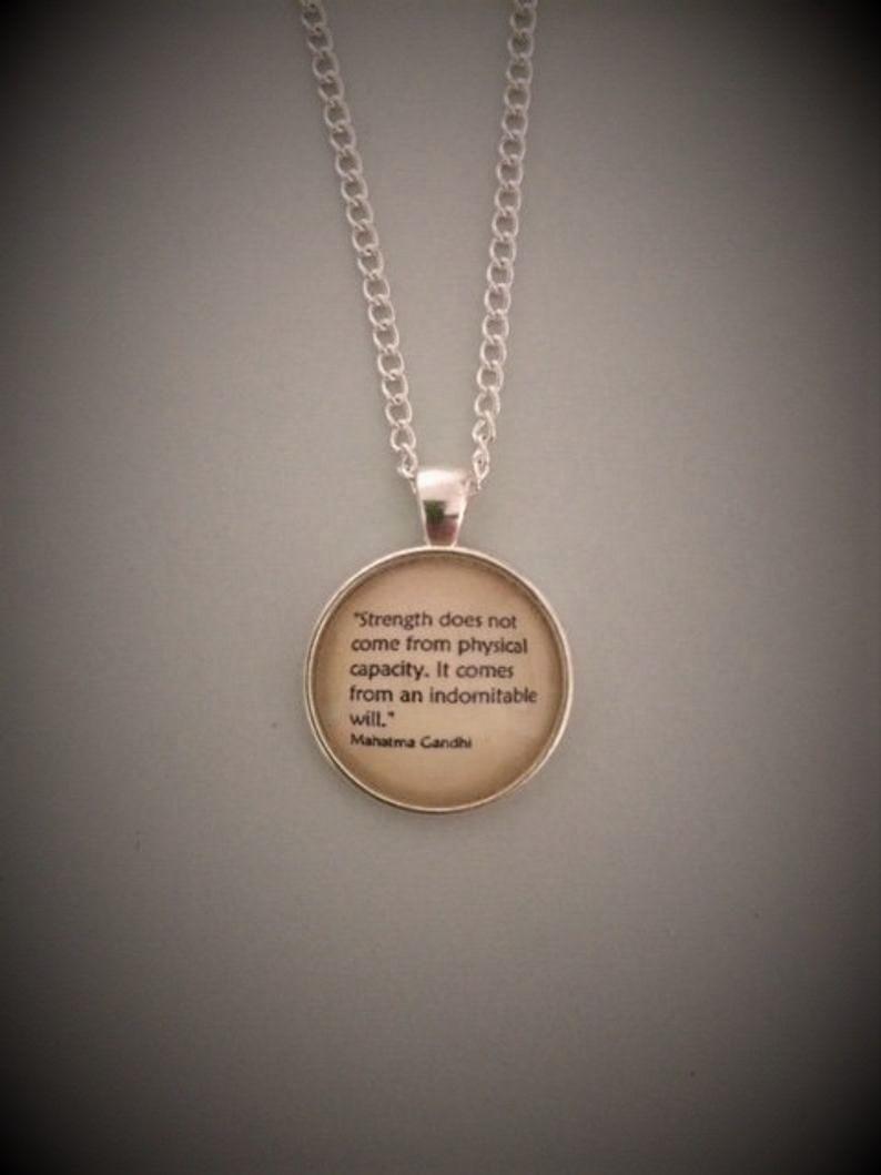 Mahatma Gandhi Quotation Necklace