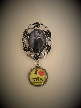 I Love NHS / Florence Nightingale Fob Brooch