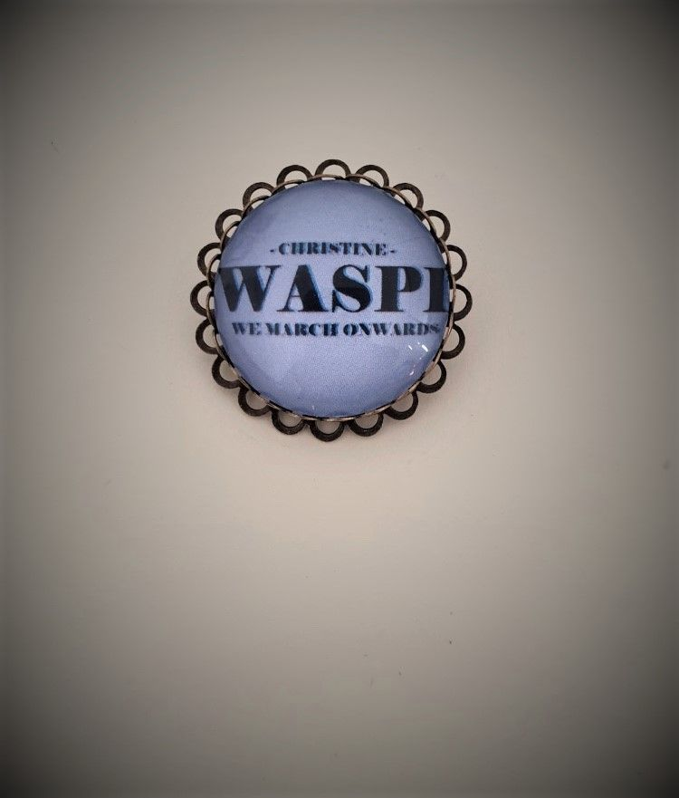 Bronzeplated Personalised WASPI Brooch