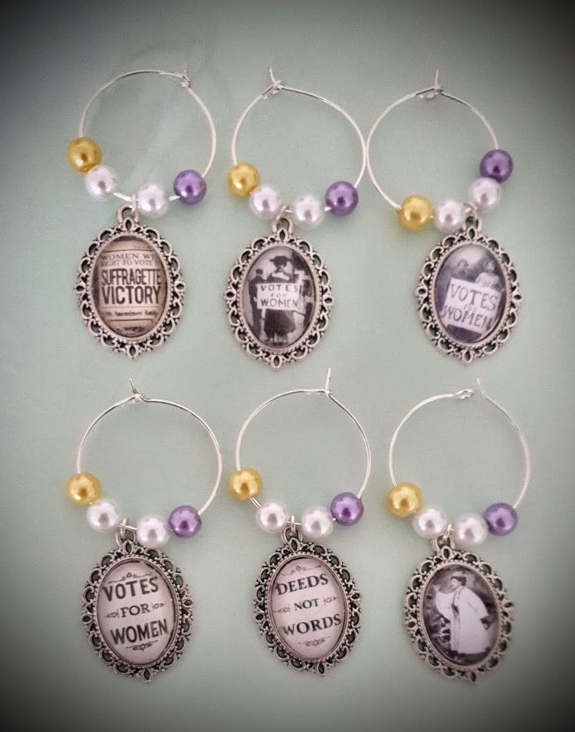 Votes for Women USA Wine Charms