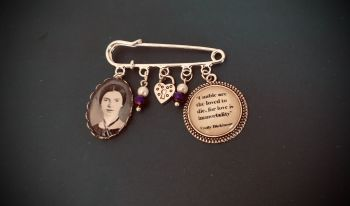 Emily Dickinson Quotation Pin