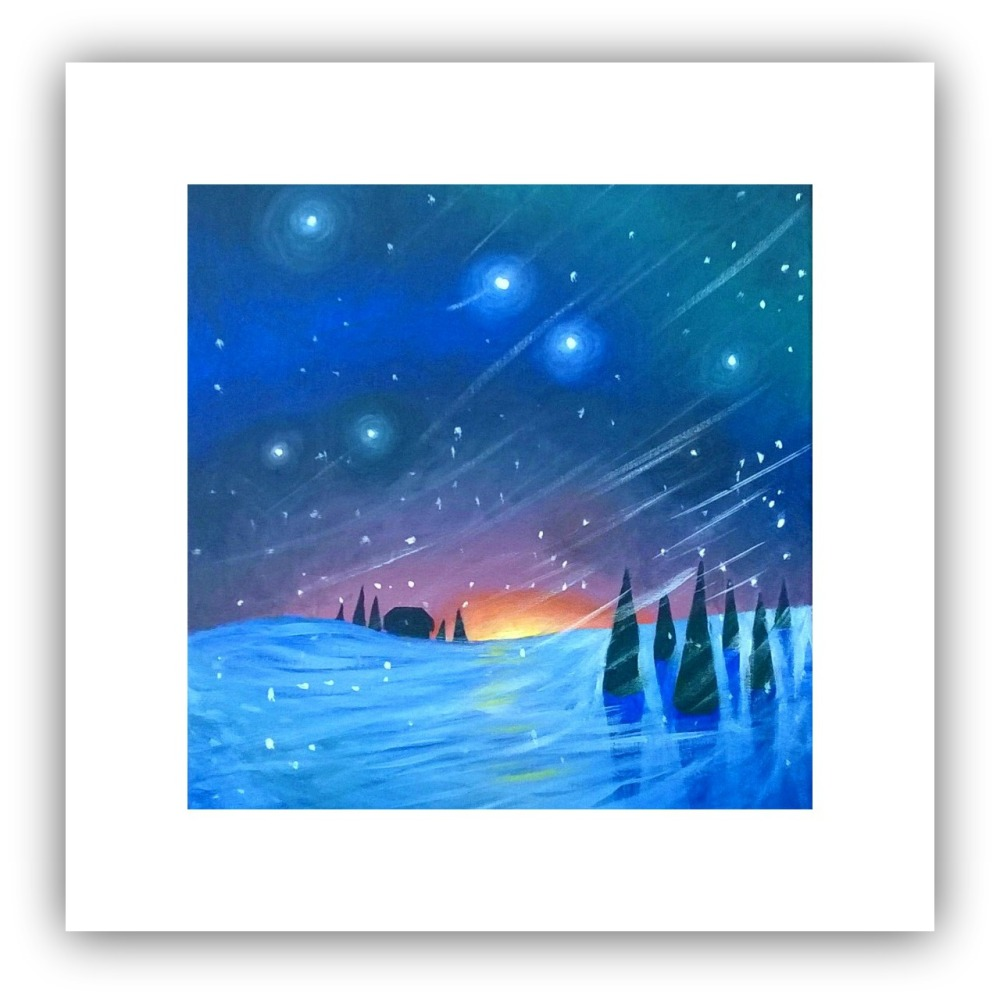 Square Art Card - Winter's Night