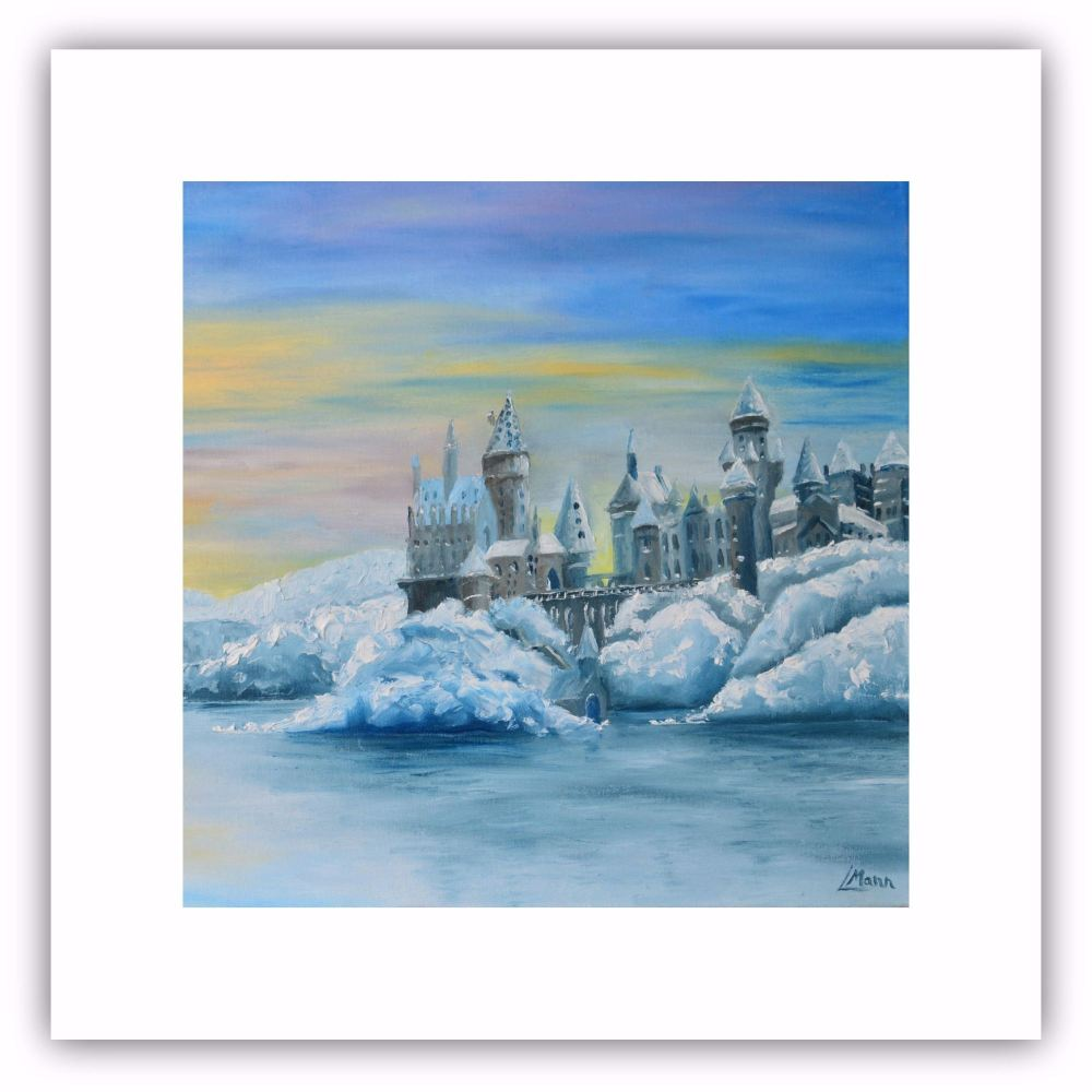 Castle in the Snow - Square Art Card