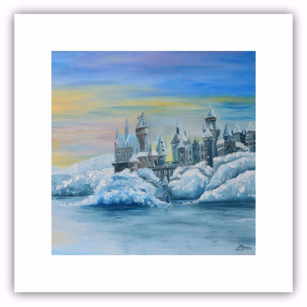 Castle in the Snow - Square Art Card