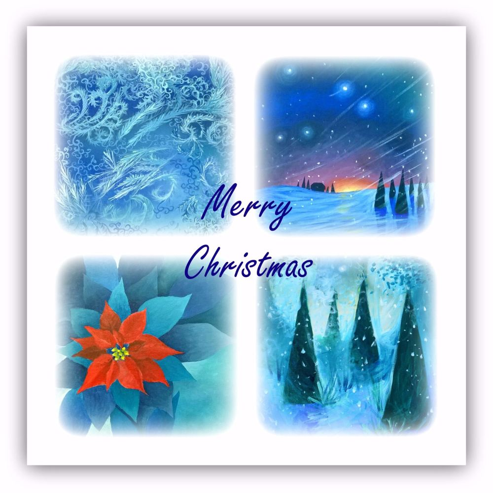 Merry Christmas Square Art Card