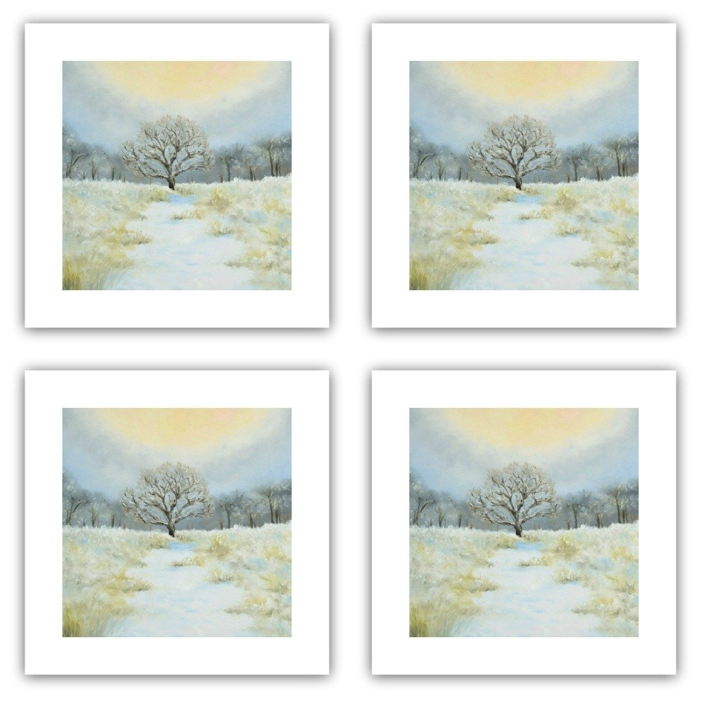 Winter Walk - Pack of Eight Square Cards