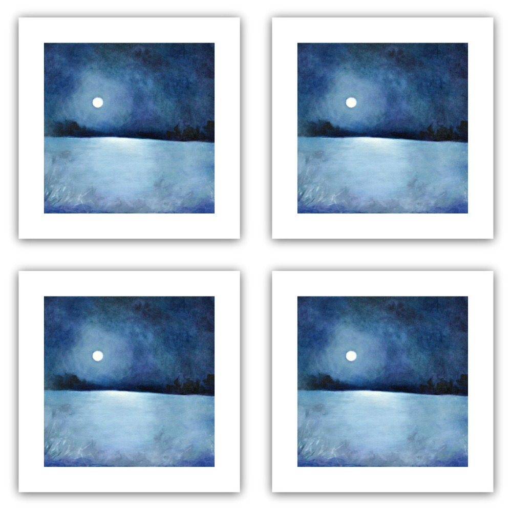 When all the World is Sleeping - Pack of Eight Square Cards
