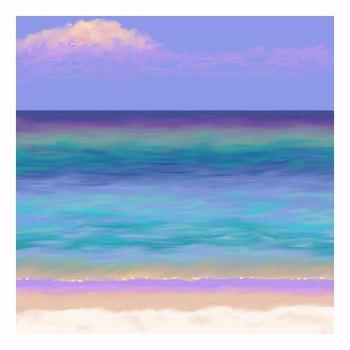 Sea and Sand 3 Print